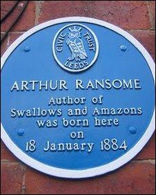 Arthur Ransome's blue plaque