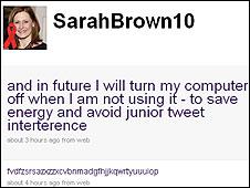 Sarah Brown's message