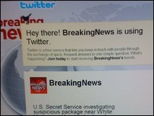 Breaking News twitter page