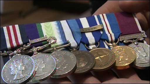 Captain Ian Bailey's medals