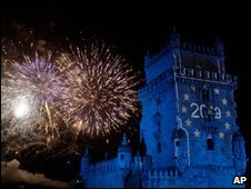 Fireworks in Lisbon
