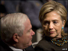 Hillary Clinton and Robert Gates