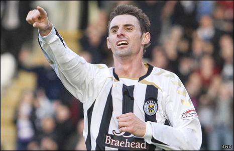 St Mirren midfielder Andy Dorman