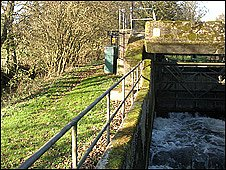 Sluice gates on the River Stour