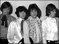 Pink Floyd members (from left to right) Roger Waters, Nick Mason, Syd Barrett and Rick Wright