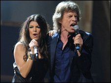 Mick Jagger and Fergie