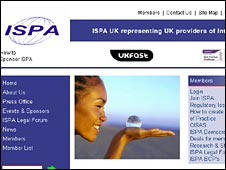 ISPA website screengrab