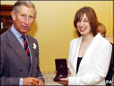 Jemima Phillips, pictured with Prince Charles in 2004