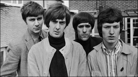 The Spencer Davis Group, (left to right), Pete York, Spencer Davis, Muff Winwood and Steve Winwood.