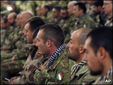 Italian soldiers with the Nato-led International Security Assistance Force, 2 Dec