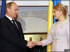 Vladimir Putin and Yulia Tymoshenko (19 November 2009)
