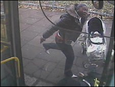 Woman attacking bus driver in Haringey