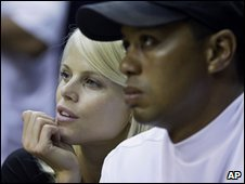 Elin and Tiger Woods, Sept 2009