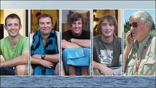 The five British sailors held in Iran for a week