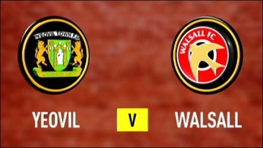 Yeovil 1-3 Walsall