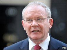 Deputy First Minister Martin McGuinness said power-sharing was becoming unsustainable