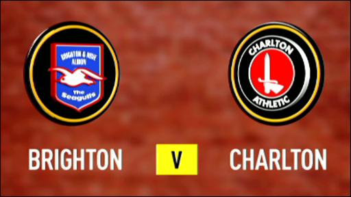 Brighton 0-2 Charlton