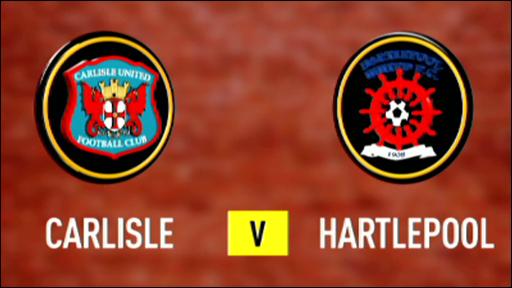 Carlisle 3 -2 Hartlepool