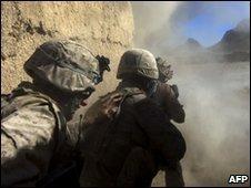 US marines in Farah province, Afghanistan
