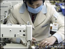 A textile factory in North Korea