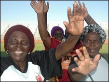 Celebrations after a football game in Limpopo