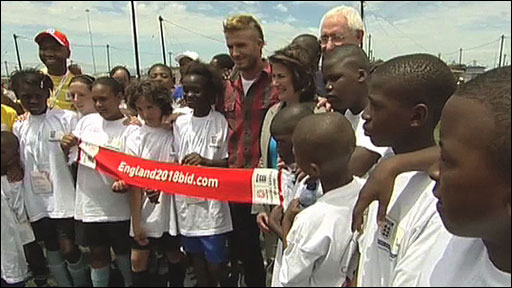 David Beckham and South African fans