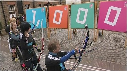 Paralympians mark 1,000 days until 2012 in Greenwich