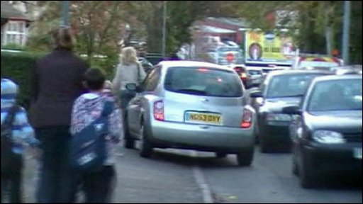 Cars mounting the pavement in Green Lanes