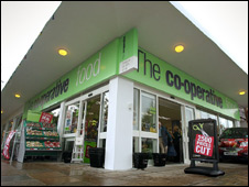 Exterior of the Co-Op's Westbury branch