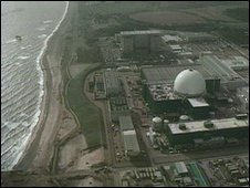 Sizewell A and B from the air