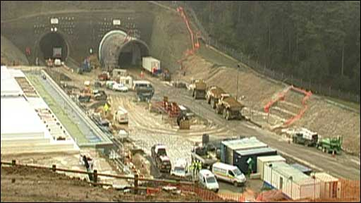 Work is progressing on the Hindhead tunnels