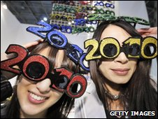 Women wearing 2010 glasses made by Volks (file pic)