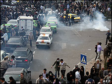 Opposition protest in Tehran