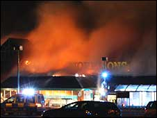 Fire at Morrisons