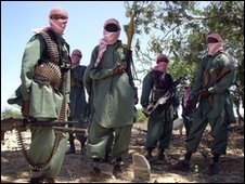 AL-Shabab fighters outside Mogadishu, Somalia (file image)