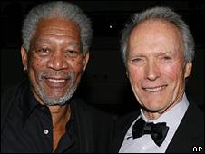 Morgan Freeman and Clint Eastwood