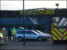 Aftermath of Morrisons fire