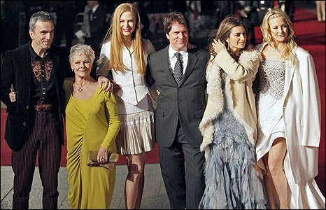 Daniel Day-Lewis, Dame Judi Dench, Nicole Kidman, director Rob Marshall, Penelope Cruz and Kate Hudson