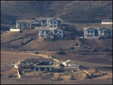 North Korean village as seen from border with South Korea - 20 November 2009