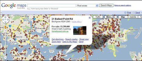 Google Australia's property map