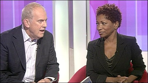Gyles Brandreth and Bonnie Greer