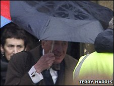 Actor Geoffrey Rush at Ely Cathedral