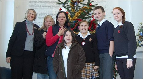 Pupils of Danyl Johnson with their parents