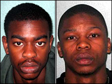 Kingsley Ogundele and Brandon Jolie (right)