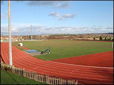 Running track at the Dorothy Hyman Stadium in Cudworth, Barnsley