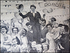 The streets of Cudworth were decked with bunting and flowers for Dorothy's homecoming