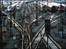 German train tracks