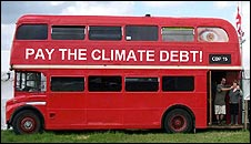 Mock-up of the Climate Caravan bus