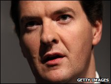 Shadow chancellor George Osborne