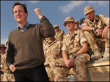 David Cameron visits British troops in Helmand Province